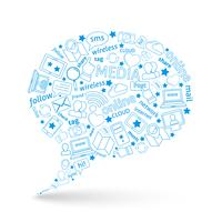 Social Media-Blase-Symbol