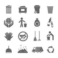 Sop ikoner sätta vektor