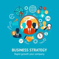 Business och ledning modernt koncept vektor