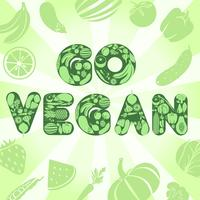 Gå veganaffisch