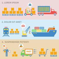 Logistikikoner etiketter vektor