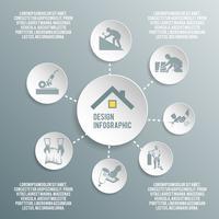 Dachdeckerpapier Infografik vektor