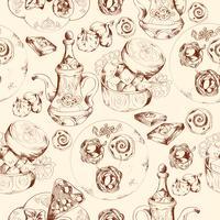 Orientalisk sötsaker sömlöst mönster vektor