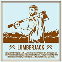 Lumberjack woodcutter affisch vektor