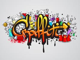 Graffiti tecken komposition skriva ut