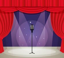Bühne mit Mikrofon