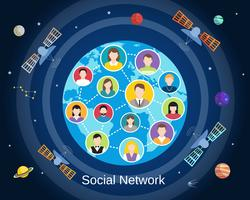 Globales soziales Netzwerkkonzept
