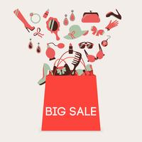 Einkaufstasche großer Verkauf vektor