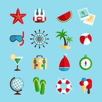 Semester semester ikoner uppsättning