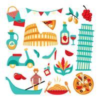 Italien dekorativa uppsättning