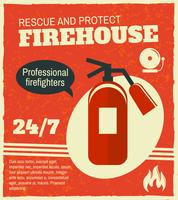 Feuerbekämpfendes Retro Plakat