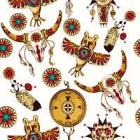 Stammes-nahtloser Hintergrund