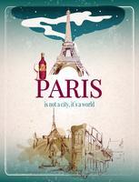 Paris retro affisch vektor