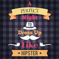 Hipster retro affisch