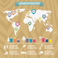 Holzfäller Holzfäller Infografik vektor