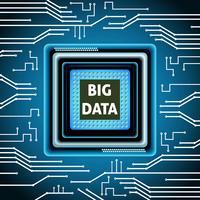 Mikrochip stor data bakgrund vektor