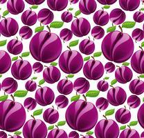 Plommon sömlös mönster