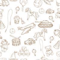 Leksaker sömlöst mönster