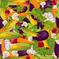Gemüse realistischer nahtloser Hintergrund