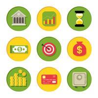 finansiella ikoner