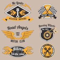 Motorrad-Design-Abzeichen