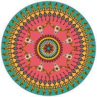Stammes-runder dekorativer Hintergrund