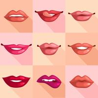 Satz von Lippen vektor