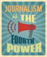 Journalismus-Plakat