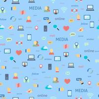 Socialt nätverk sömlöst vektor