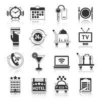 Hotel Ikoner Set vektor
