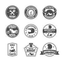 Biker etikettuppsättning