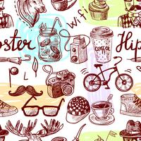 Hipster sömlös vektor