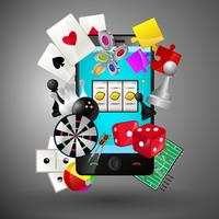 Mobile Spiele-Konzept vektor