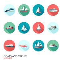 Båtsymboler Set vektor