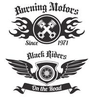 Motorradaufkleber schwarz