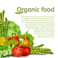 Grönsaker sätta bakgrund vektor