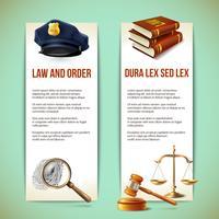 Gesetz vertikale Banner