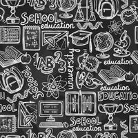 Skolan utbildning tavlan sömlösa mönster vektor