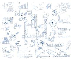Geschäftsskizze Infographik