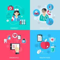 Medicin hälsovårdstjänster koncept