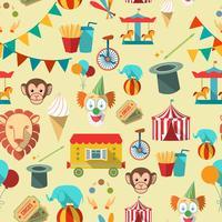 Cirkus sömlöst mönster