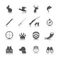 Set von Jagd-Icons