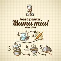 Matlagning ikoner skiss vektor