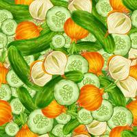 Grönsaker sömlös bakgrund vektor