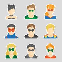 Set av avatar klistermärken vektor