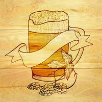 Bier und Hopfenhintergrund