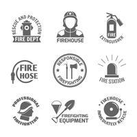 Brandbekämpfungsetikett