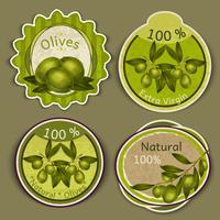 Olivenöl-Etiketten vektor