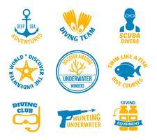 Dykning sälar uppsättning