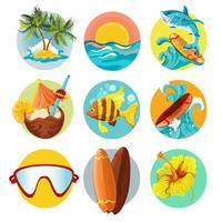 Surfing ikoner uppsättning